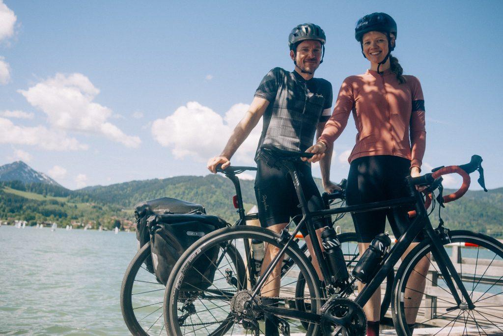 Bikepacking nach Österreich. Noch glückliche Gesicher