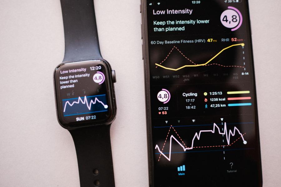 Heart Ragte Variability App Screens